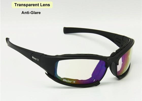 f2a551fbb الأشعة فوق البنفسجية 400 حماية نظارات السلامة التكتيكية 3 بولي كربونات عدسة  ديزي X7